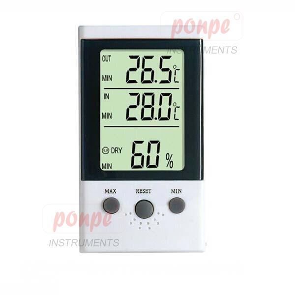 เครื่องวัดอุณหภูมิ 2 จุด และความชื้นสัมพัทธ์ DT-3