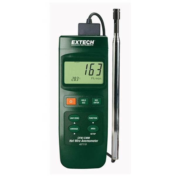 407119 EXTECH เครื่องวัดความเร็วลมแบบ Hotwire Anemometer
