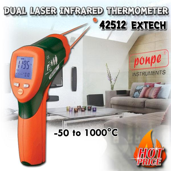 42512 EXTECH Dual Laser InfraRed Thermometer