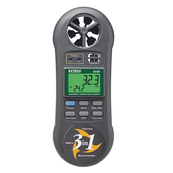 45160 EXTECH เครื่องวัดความเร็วลม อุณหภูมิ และความชื้น