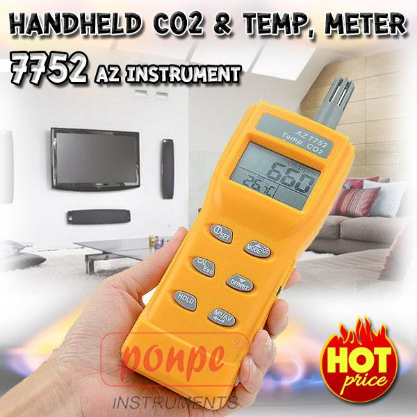 Handheld C02 & TEMP, meter 7752