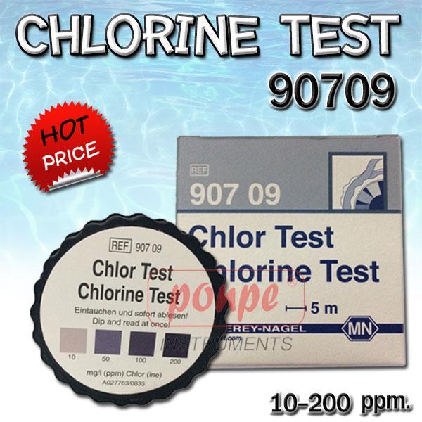 Chlorine Test 90709 กระดาษทดสอบคลอรีน