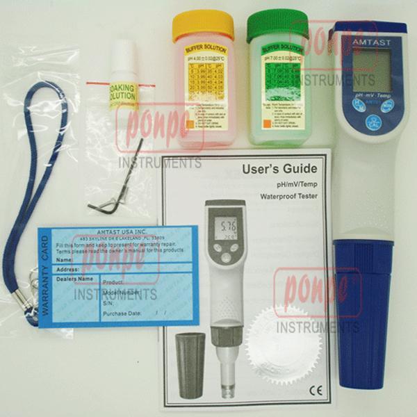 AMT01 เครื่องวัดกรด ด่าง Temp / PH meter Waterproof