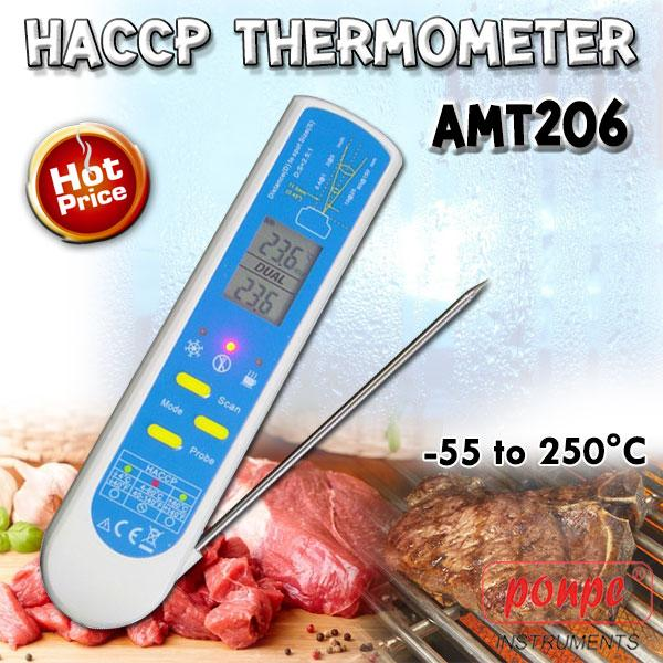 HACCP Lab Grade 2 IN 1 Thermometer AMT206
