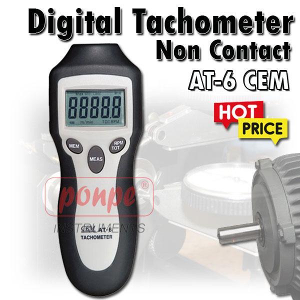 AT-6 / CEM เครื่องวัดความเร็วรอบ แบบใช้แสง Tachometer