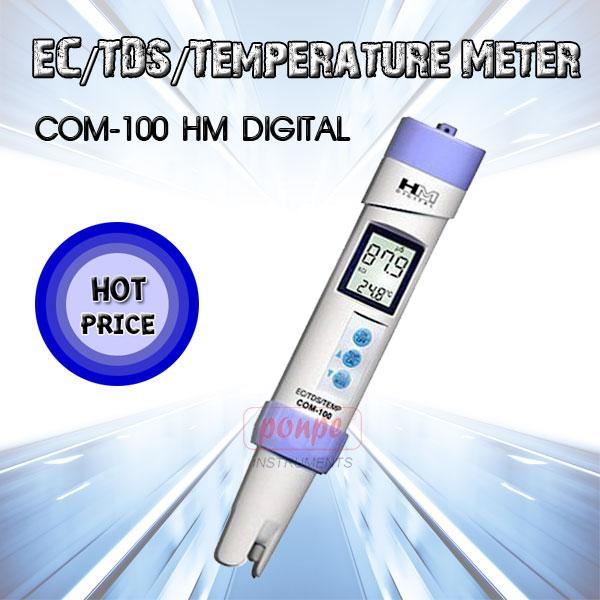 COM-100 HM Digital เครื่องวัดค่าความนำไฟฟ้า Conductivity Waterproof EC/TDS/Temperature Meter