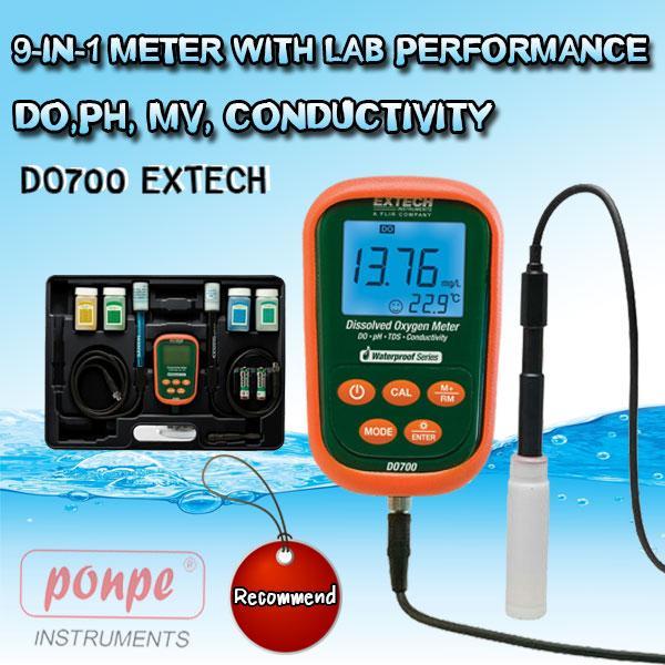 DO700 EXTECH  เครื่องวัดกรดด่าง 9-in-1 Meter with Lab Performance DO,pH, mV, Conductivity