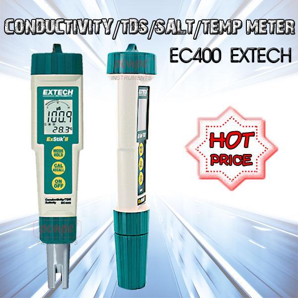 EC400 EXTECH เครื่องวัดค่าความนำไฟฟ้า/TDS/ความเค็ม/อุณหภูมิ Waterproof ExStik II Conductivity/TDS/Salt/Temp Meter