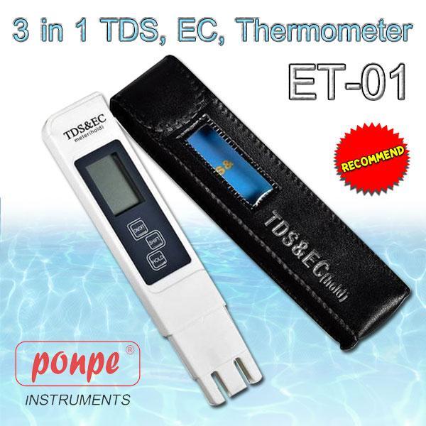ET-01 / TLEAD เครื่องวัดค่าทีดีเอส, ความนำไฟฟ้า และอุณหภูมิ