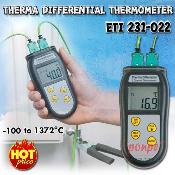 ETI 231-022 เครื่องวัดอุณหภูมิ Therma Differential Thermometer