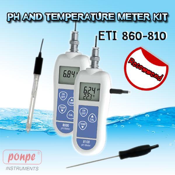 ETI 860-810 / 8100 pH Kit pH and temperature meter kit