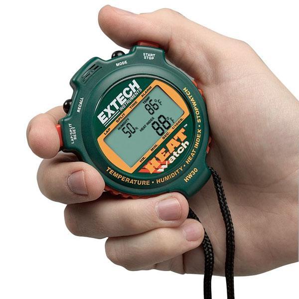 นาฬิกาจับเวลา พร้อม เครื่องวัดอุณหภูมิ ความชื้น HW30