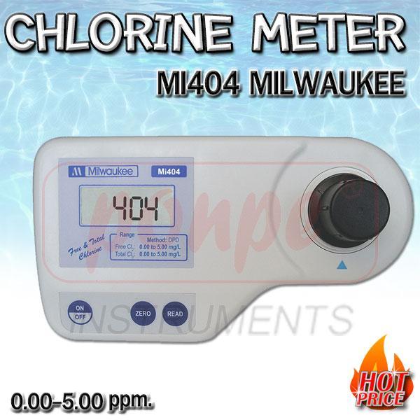 Mi404 Milwaukee เครื่องวัดคลอรีน Chlorine Meter