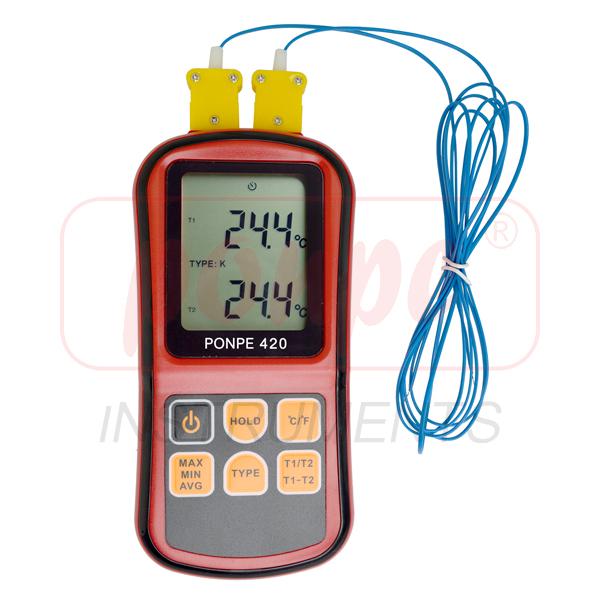 เครื่องวัดอุณหภูมิ รุ่น PONPE 420