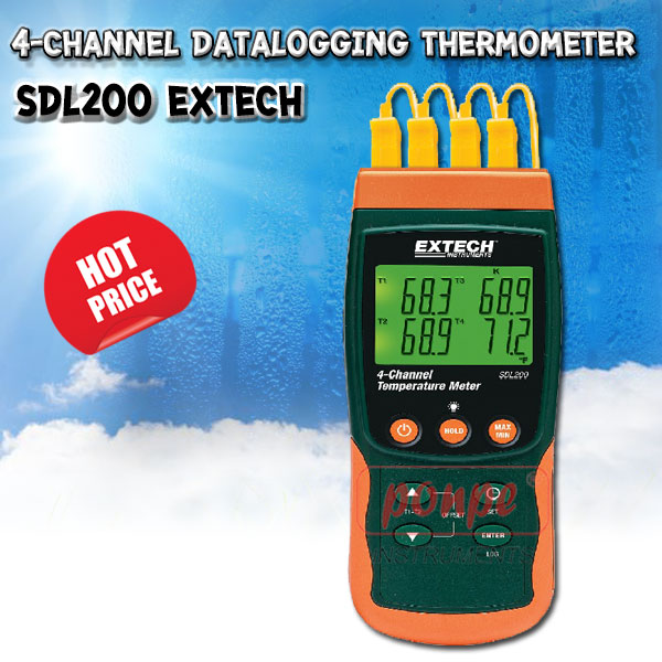 SDL200: 4-Channel Datalogging Thermometer