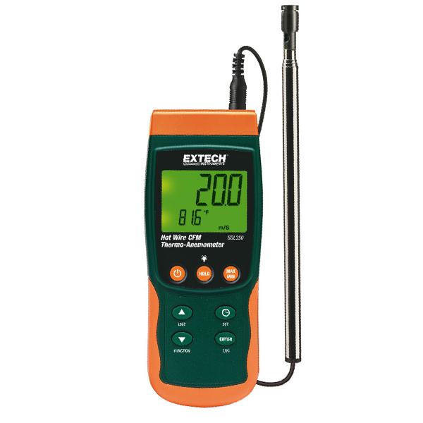 เครื่องวัดความเร็วลมแบบ Hot Wire รุ่น SDL350