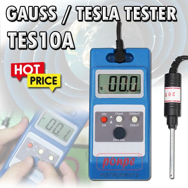 เครื่องวัดสนามแม่เหล็ก  TES10A Gauss / Tesla  Tester