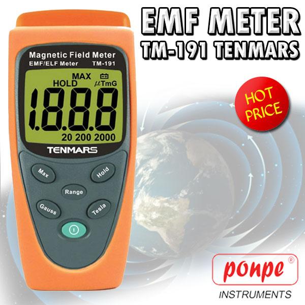 TM-191 TENMARS เครื่องวัดสนามแม่เหล็ก Gauss Meter