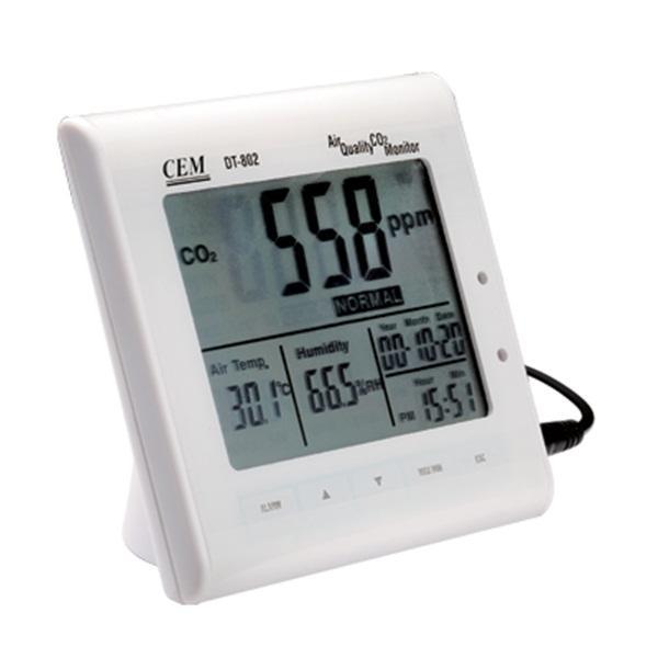 เครื่องวัดก๊าซคาร์บอนไดออกไซด์ Air Quality CO2 Monitor DT-802