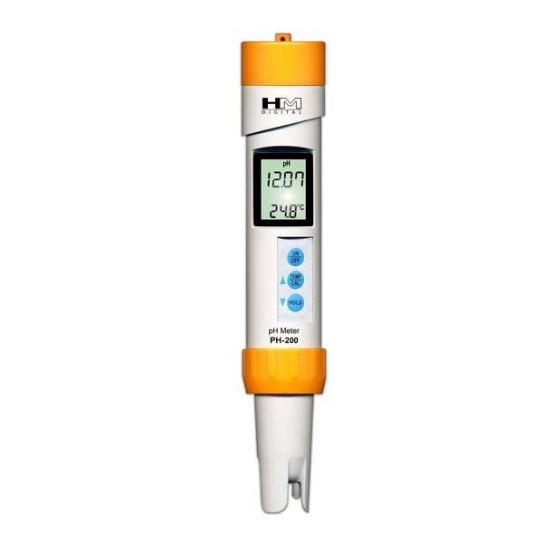 เครื่องวัดกรดด่าง เครื่องวัดอุณหภูมิ Waterproof PH-200