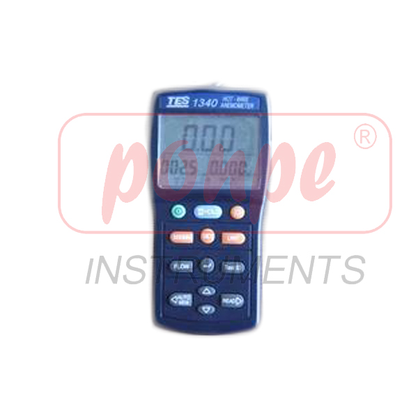 TES-1340 TES เครื่องวัดความเร็วลมแบบ Hot Wire