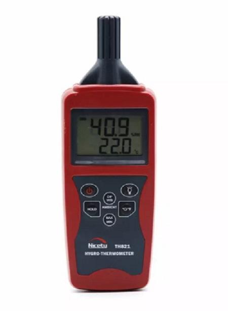 TH821 NICETY เครื่องวัดอุณหภูมิความชื้นแบบพกพา