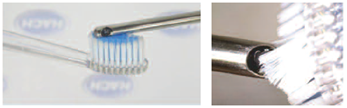 การใช้แปรงสีฟันทำความสะอาดเซ็นเซอร์ pH แบบ ISFET