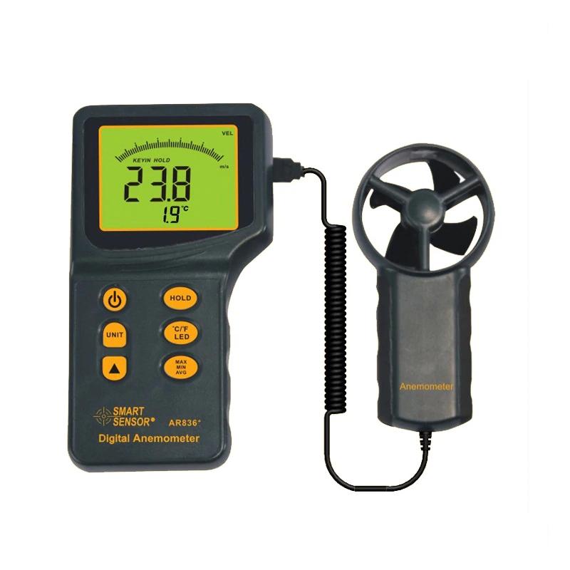 AR836+ / SMART SENSOR เครื่องวัดความเร็วลม Digital Anemometer