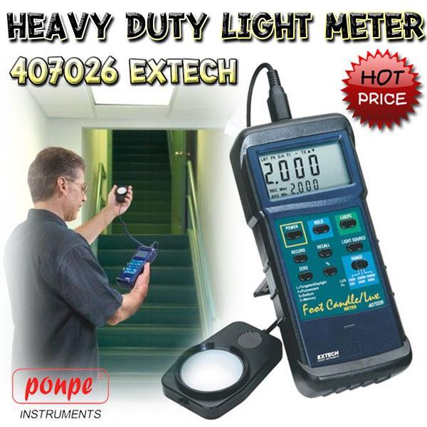 407026 EXTECH เครื่องวัดแสง Heavy Duty Light Meter