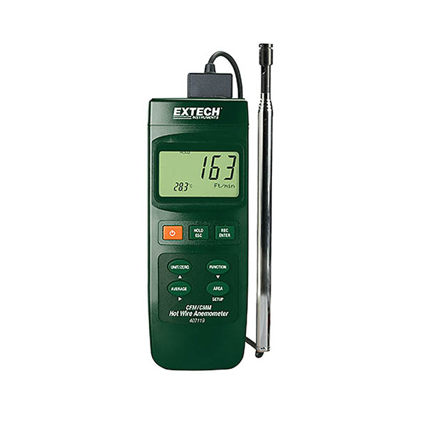 407119-NIST / Extech Heavy Duty Hot Wire CFM Thermo-Anemometer with NIST Calibration