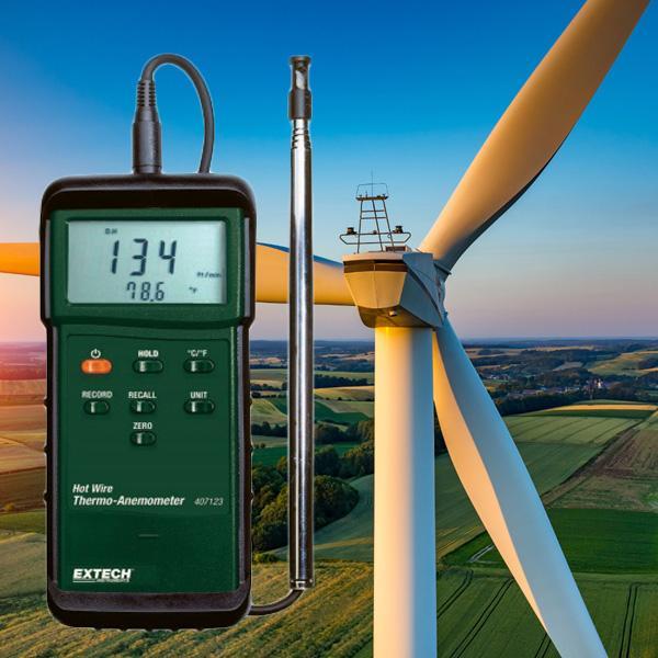 407123 EXTECH เครื่องวัดความเร็วลม Hotwire Anemometer