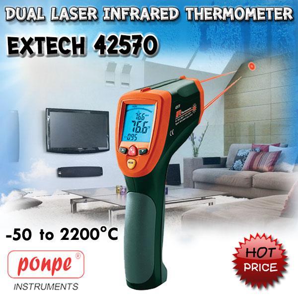 42570: Dual Laser InfraRed Thermometer Wide Range IR 2,200C