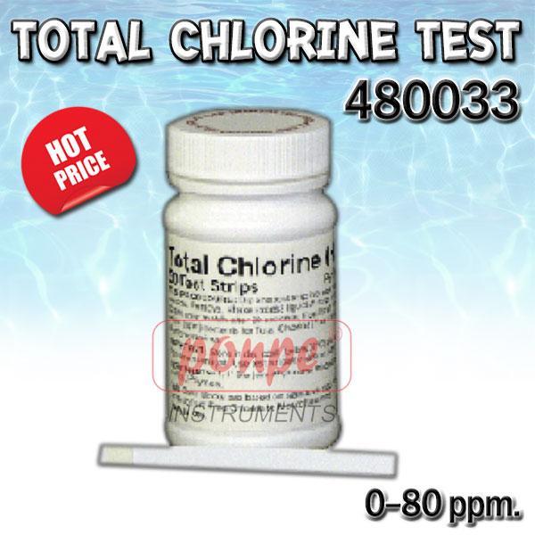 Total Chlorine Test 480033 ชุดทดสอบคลอรีน ทั้งหมด