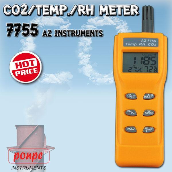 7755 / AZ INSTRUMENTS เครื่องวัดก๊าซคาร์บอนไดออกไซด์ อุณหภูมิ และความชื้น