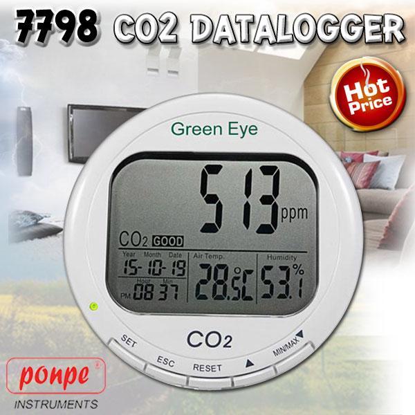 7798 เครื่องวัดและบันทึกข้อมูล CO2 datalogger