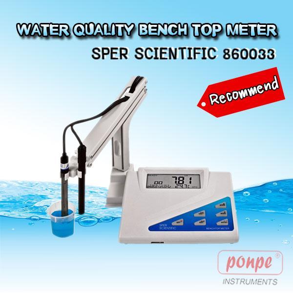 860033 SPER SCIENTIFIC เครื่องวัดค่าความนำไฟฟ้า วัดคุณภาพน้ำ Water Quality Bench Top Meter