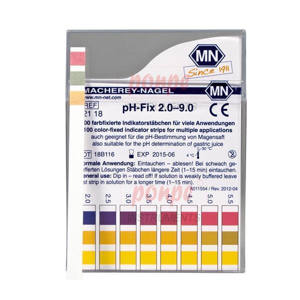ก้านวัดกรด ด่าง pH Test Strip pH-Fix 2.0-9.0