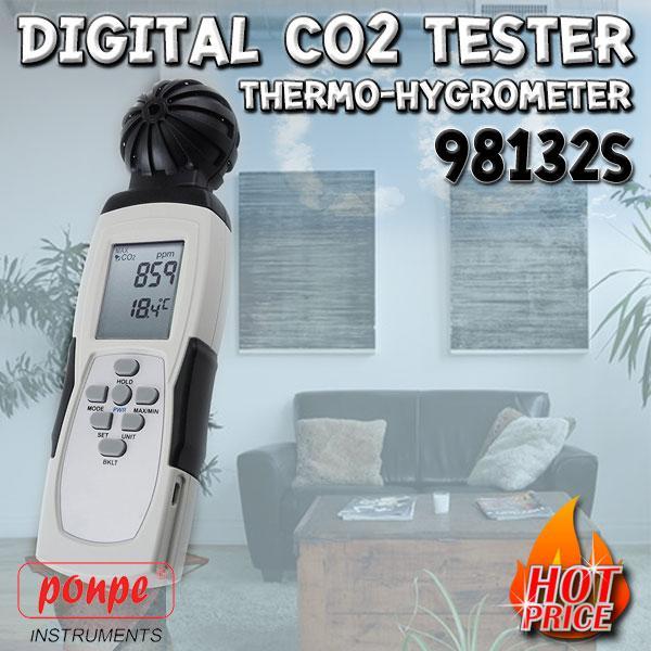 98132S MIC เครื่องวัดก๊าซคาร์บอนไดออกไซด์ CO2 Meter