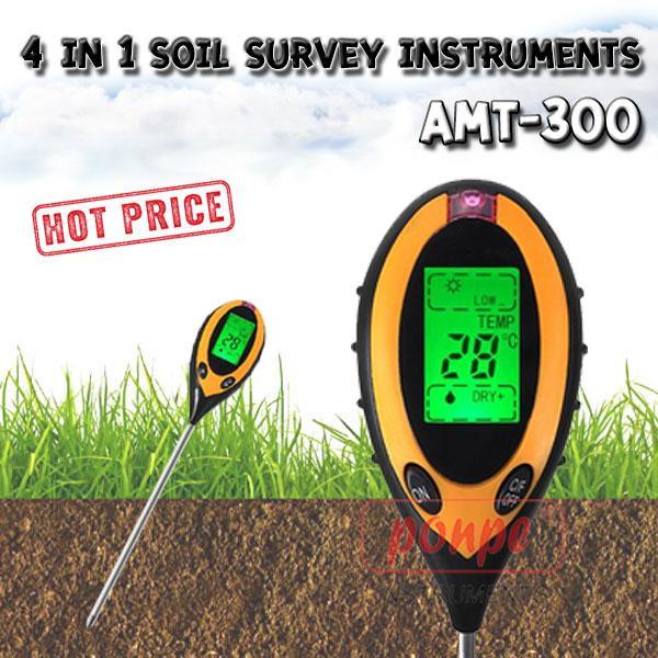 AMT-300 / JEDTO เครื่องวัดความชื้น กรดด่าง อุณหภูมิ แสง ในดิน