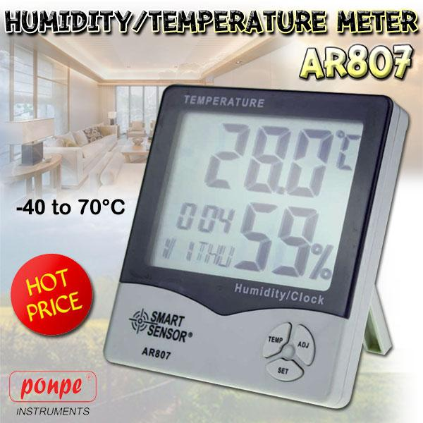 AR807 Smart Sensor เครื่องวัดอุณหภูมิ ความชื้น