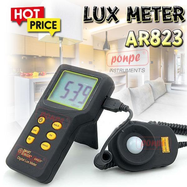 AR823 / SMART SENSOR เครื่องวัดแสง Lux Meter