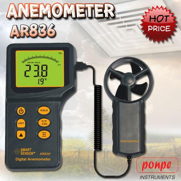AR836 / SMART SENSOR เครื่องวัดความเร็วลม Anemometer