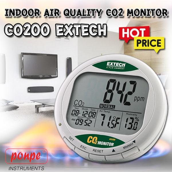 CO200 EXTECH เครื่องวัดก๊าซคาร์บอนไดออกไซด์
