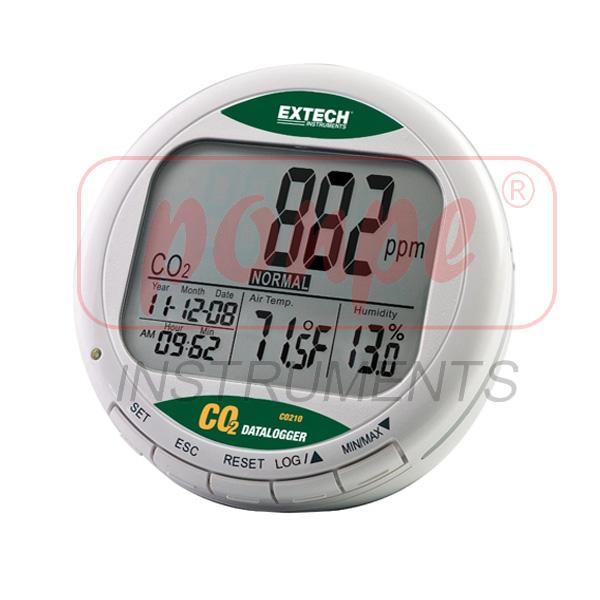 CO210 EXTECH Desktop Indoor Air Quality CO2 Monitor/Datalogger