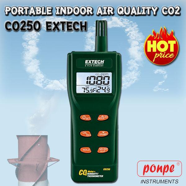 CO250 EXTECH เครื่องวัดก๊าซคาร์บอนไดออกไซด์