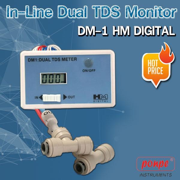 DM-1 HM Digital In-Line Dual TDS Monitor