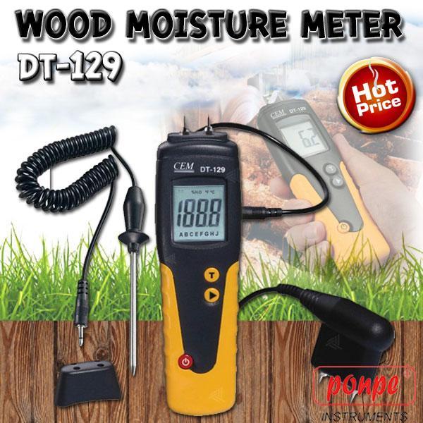DT-129 / CEM เครื่องวัดความชื้นวัสดุ ไม้ Wood Moisture Meter