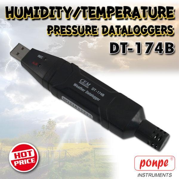 DT-174B / CEM เครื่องวัดและบันทึกอุณหภูมิ ความชื้น ความดันอากาศ