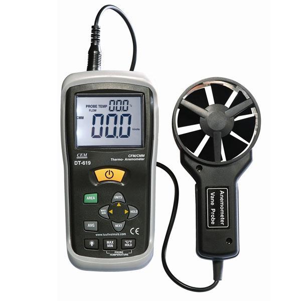 DT-619 / CEM เครื่องวัดความเร็วลม Anemometer