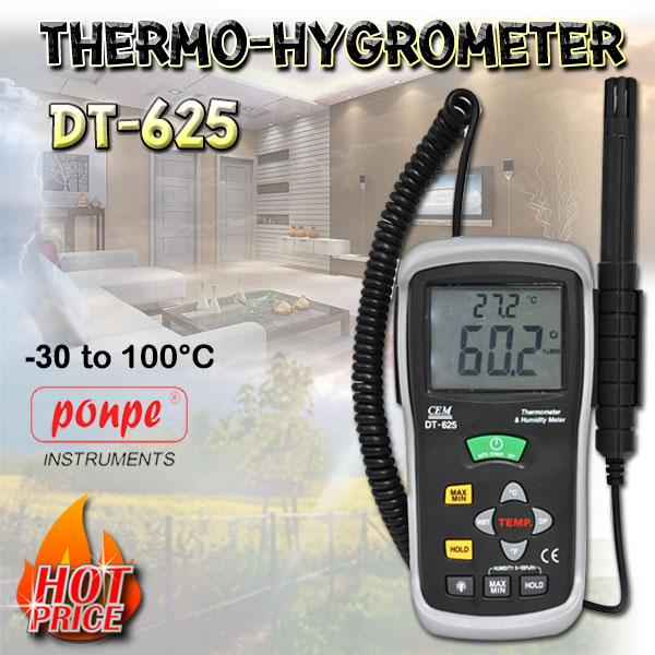DT-625 THERMO-HYGROMETER